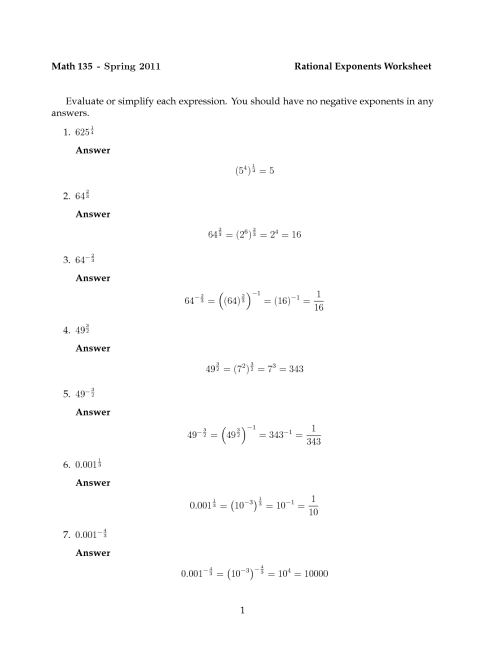 small resolution of Exponent Rules Fun Worksheet   Printable Worksheets and Activities for  Teachers