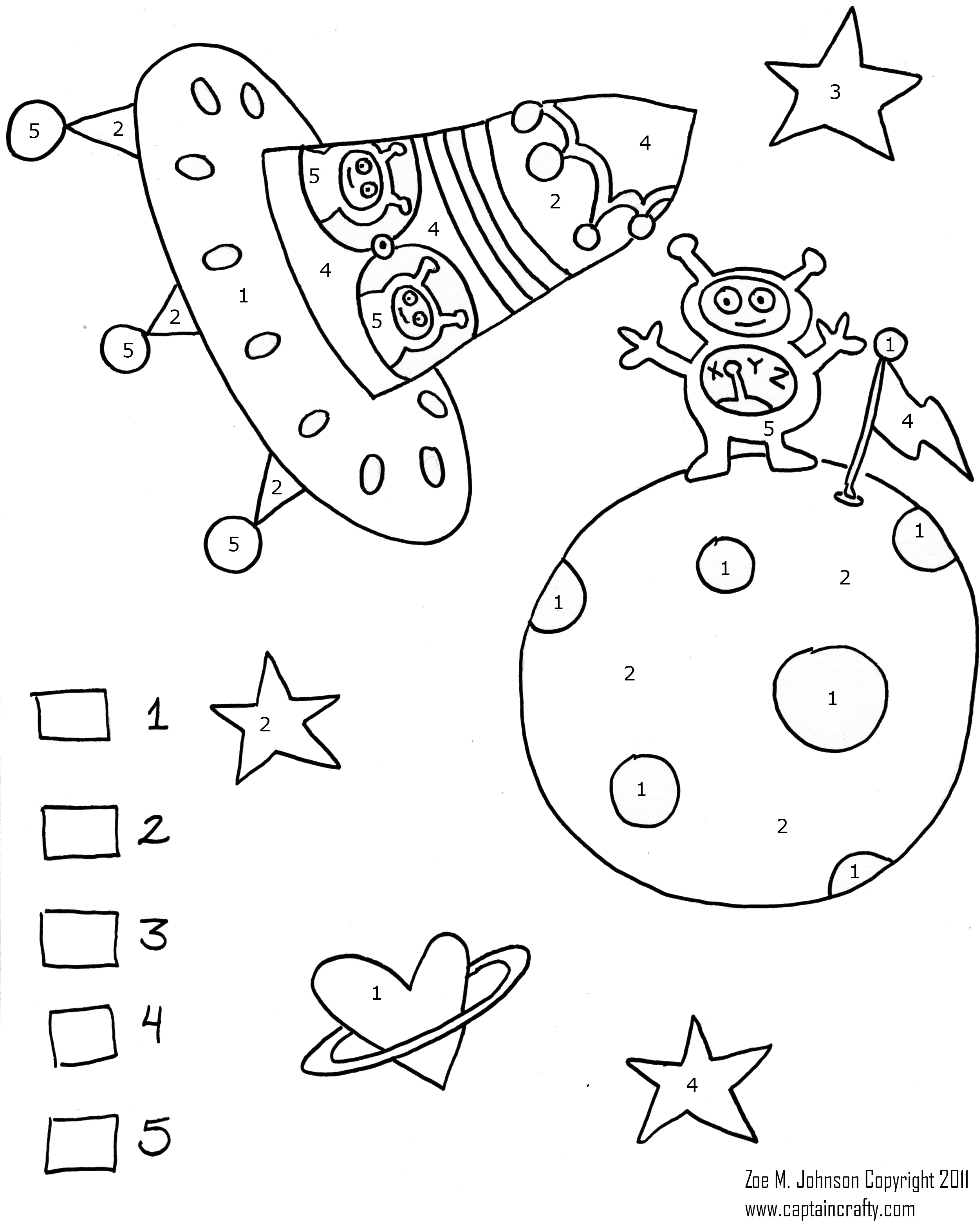 14 Best Images Of Planets Color By Number Preschool Worksheets