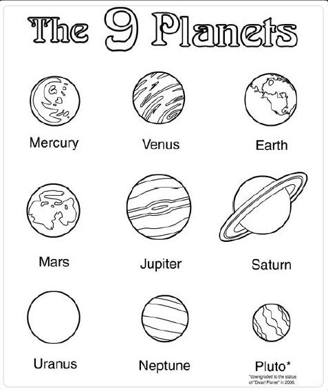 14 Best Images of Planets Color By Number Preschool