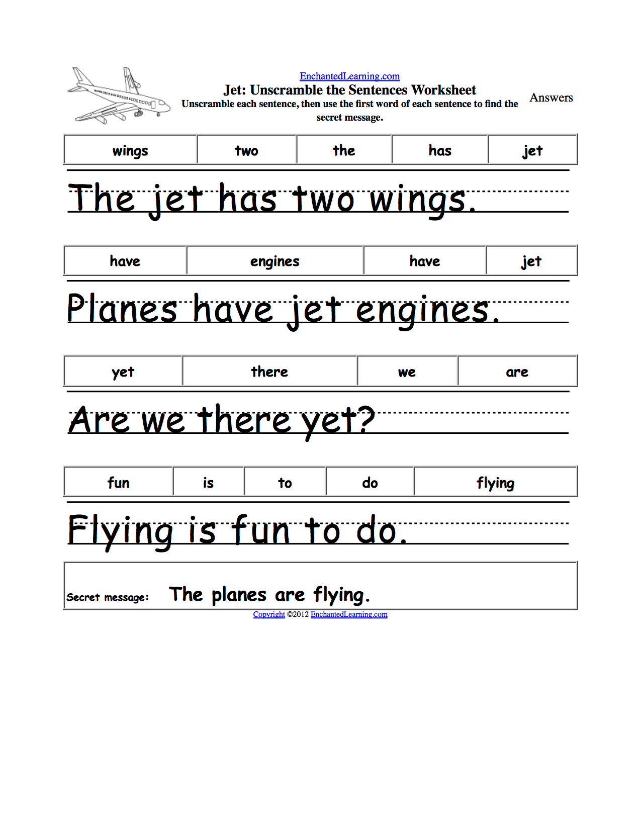 17 Best Images Of Simple Sentence Worksheets For Preschool
