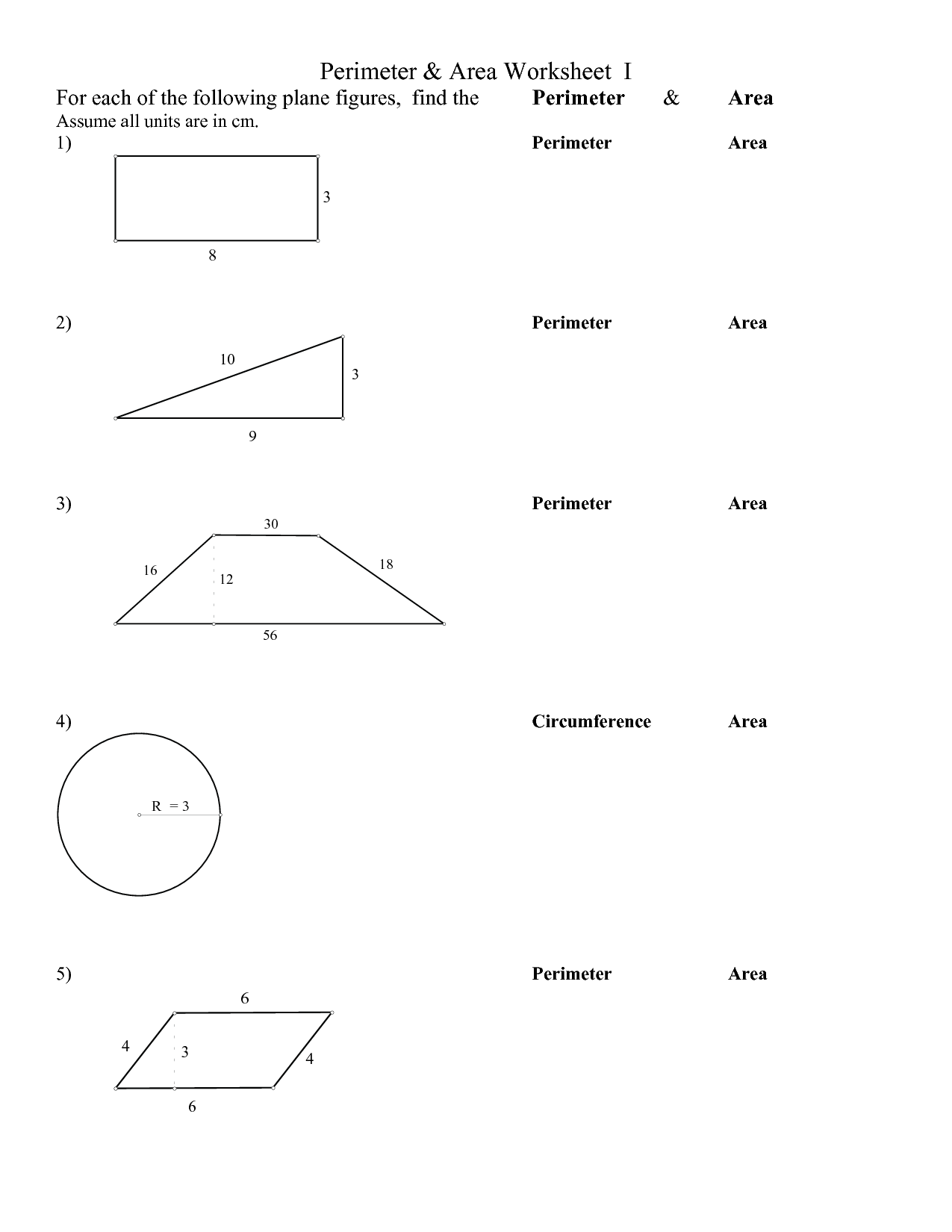 14 Best Images Of Surface Area Worksheets Grade 6