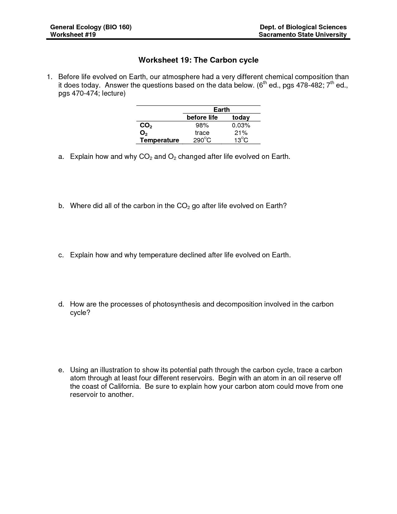 28 Carbon Cycle Worksheet Answers