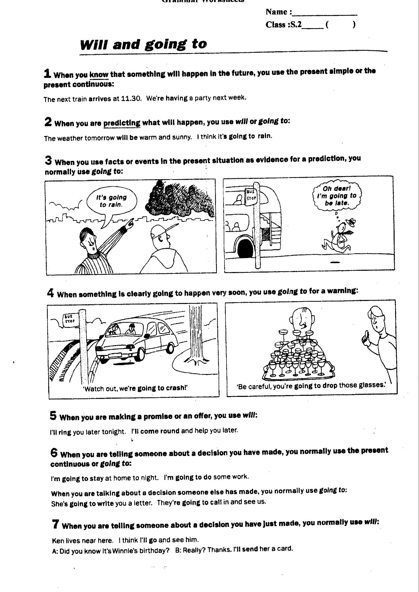 Future Progressive Tense Worksheets