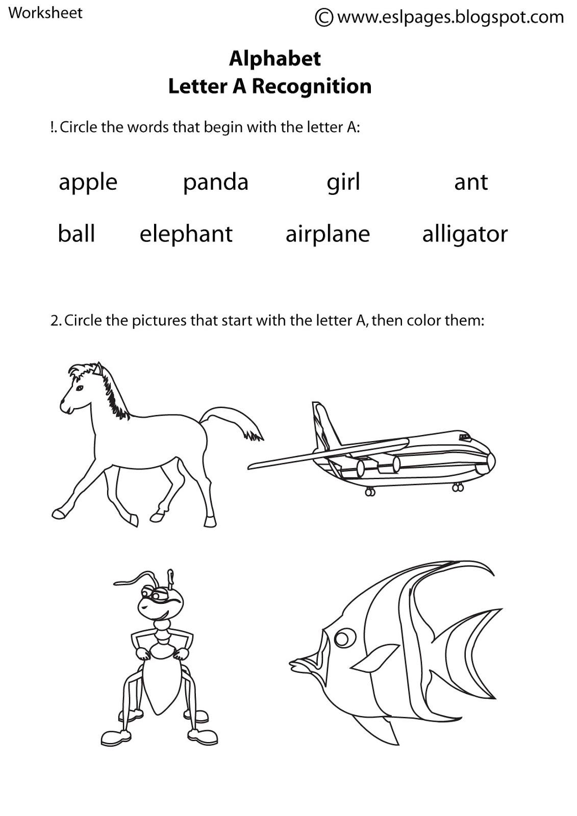14 Best Images Of Alphabet Worksheets Esl Students