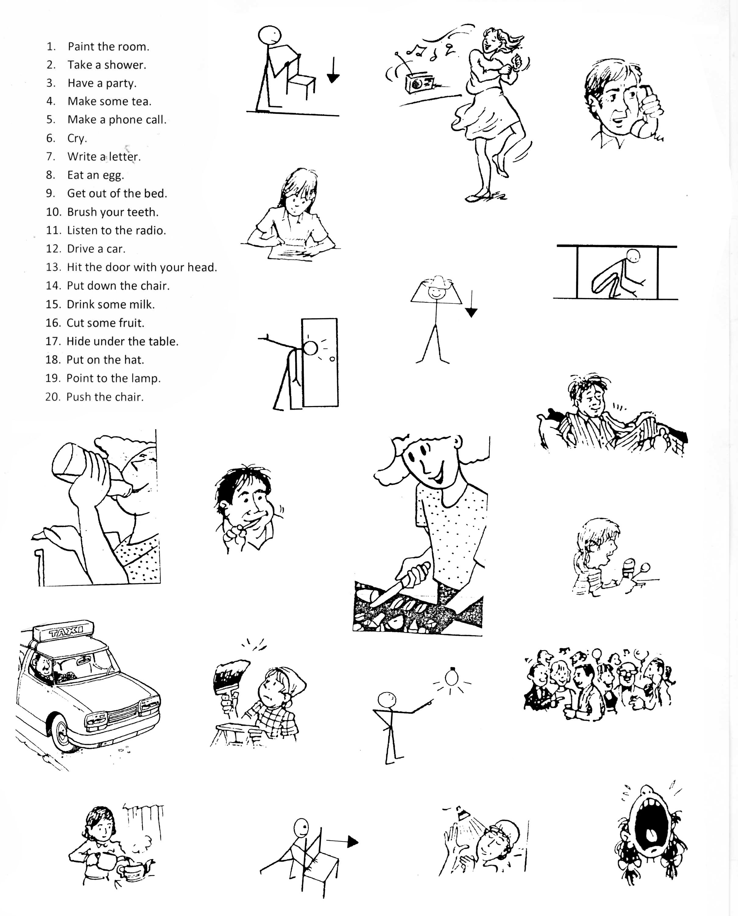 Irregular Verbs Worksheet For Adults