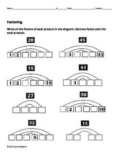 9 Best Images of Greatest Common Factor Worksheets 6th