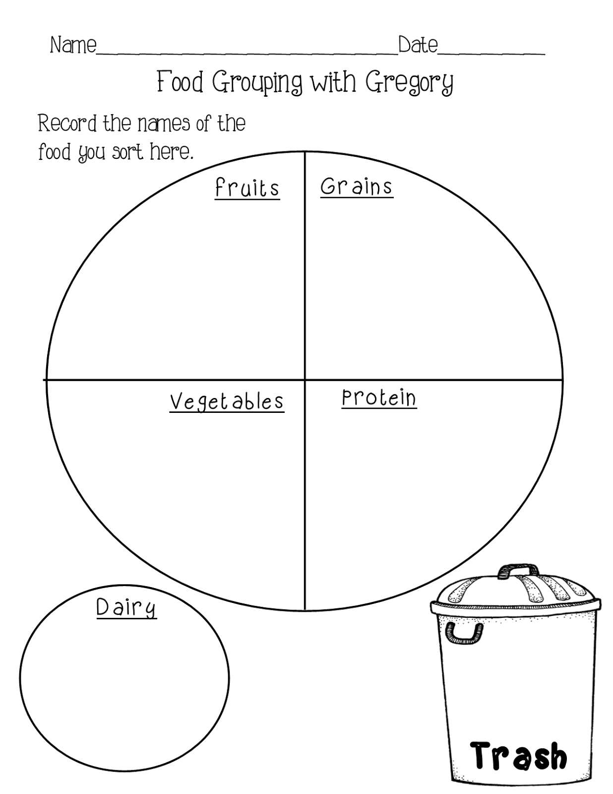 15 Best Images Of Junk Food Sorting Worksheets