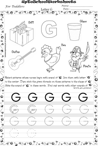 16 Best Images of Traceable Letter G Worksheet