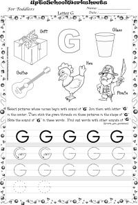 16 Best Images of Traceable Letter G Worksheet - Letter G ...
