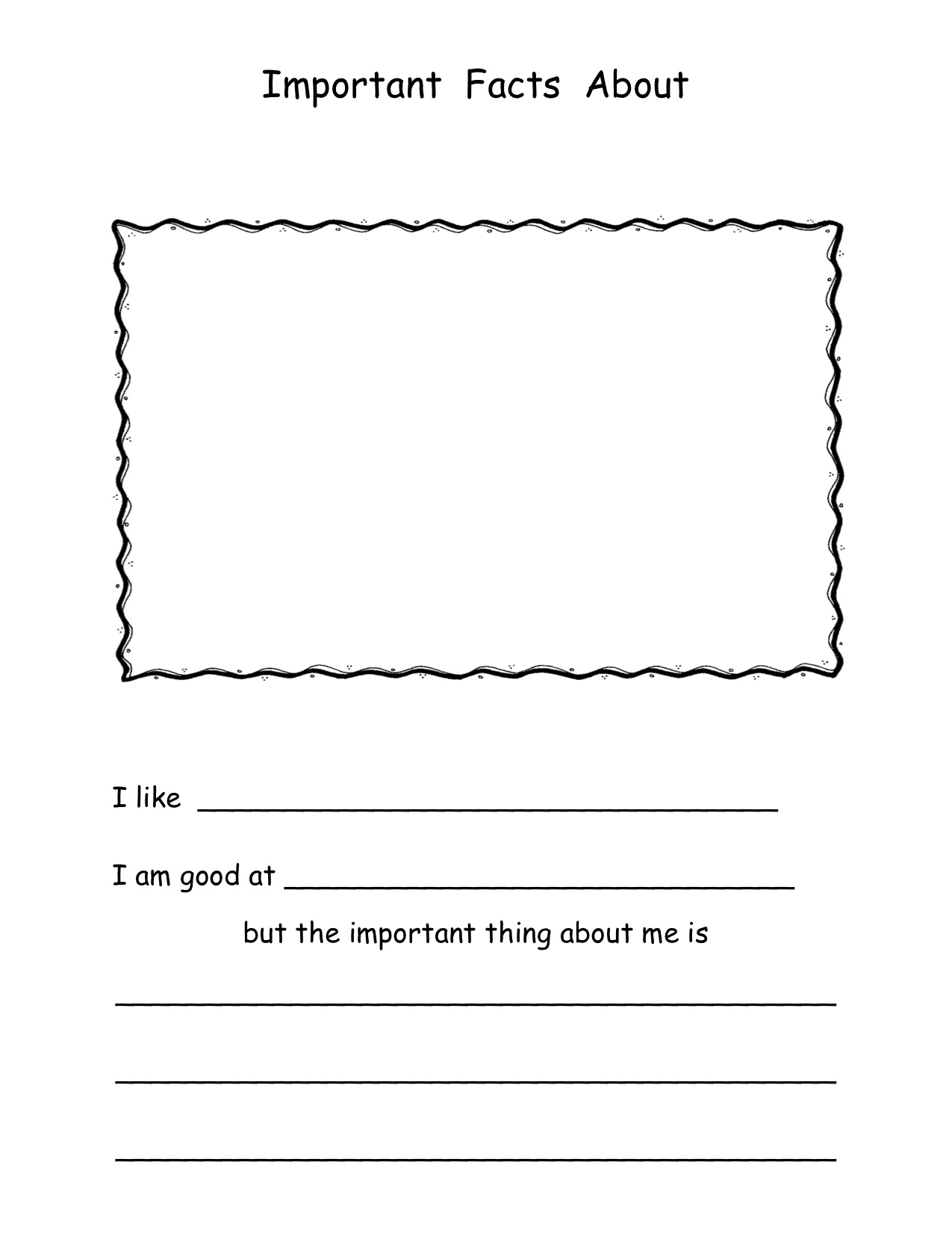 14 Best Images Of Things About Me Worksheet