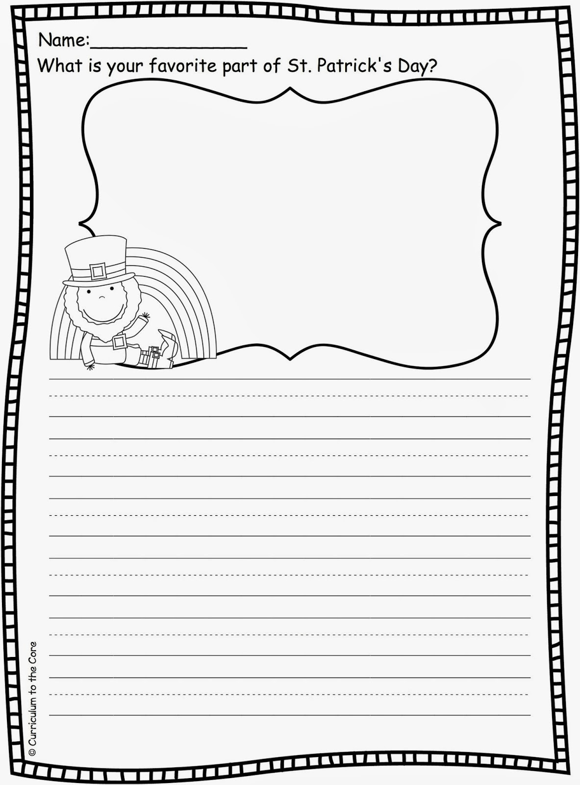 14 Best Images Of My Favorite Part Worksheet