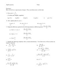 Glencoe Algebra 2 Practice Worksheet Answers - right angle ...