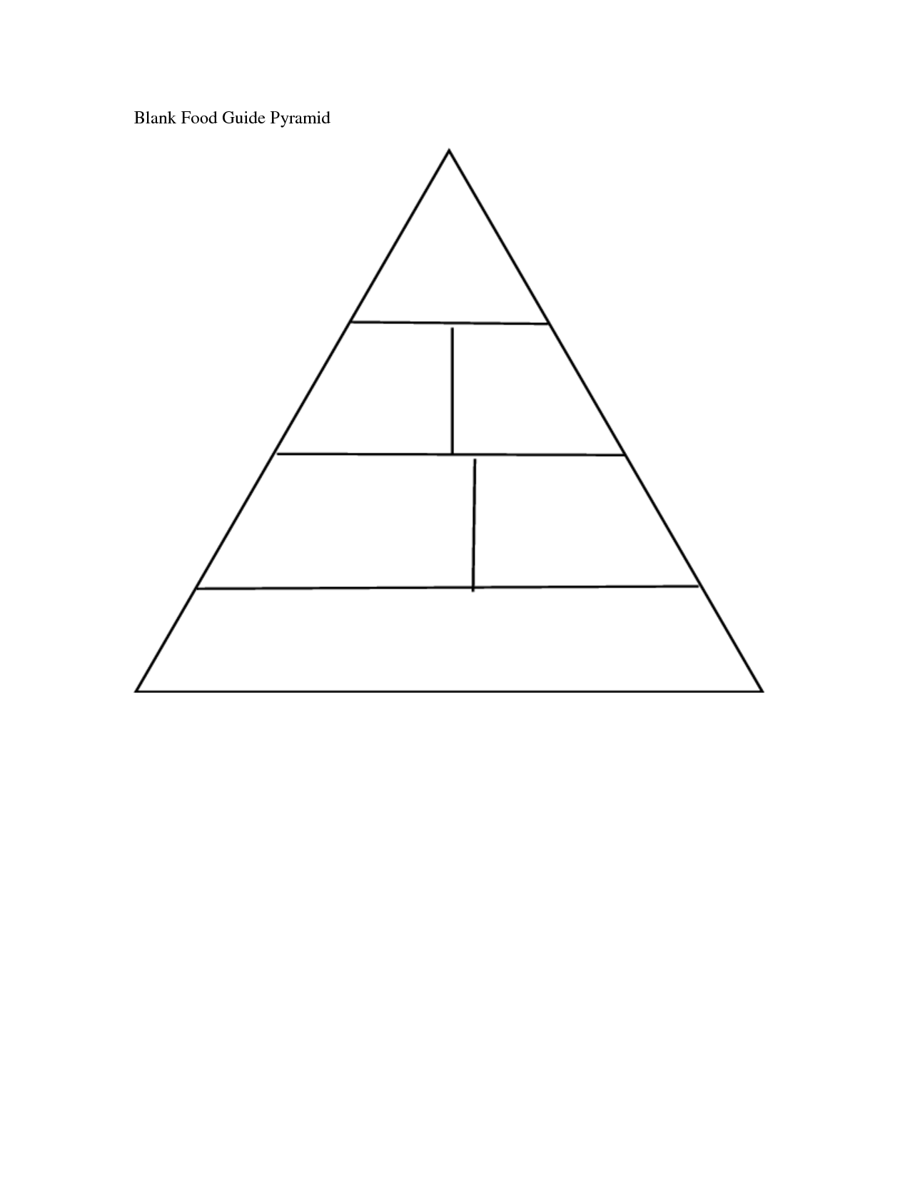 32 Blank Food Pyramid Worksheet