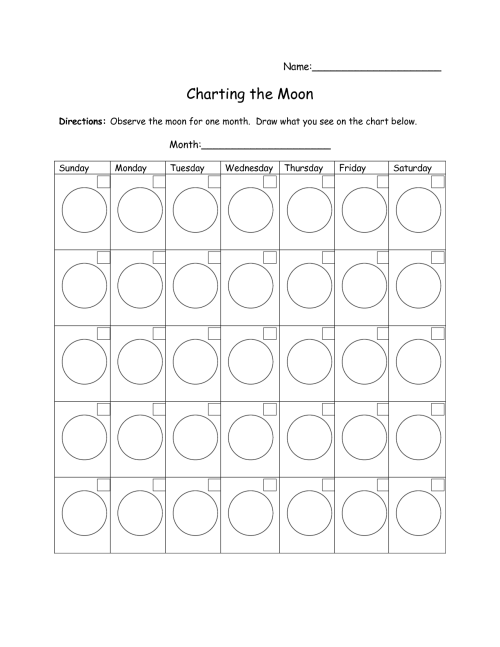 small resolution of Moon Phase Worksheet Chart   Printable Worksheets and Activities for  Teachers