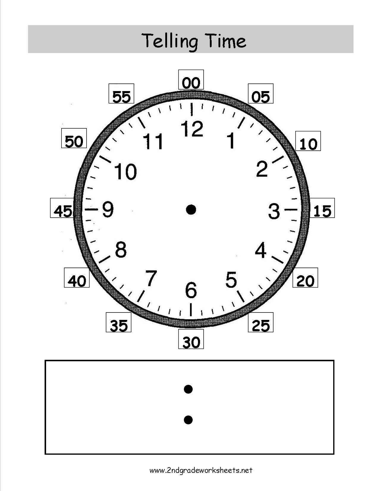 8 Best Images Ofog Clock Worksheets 2nd Grade