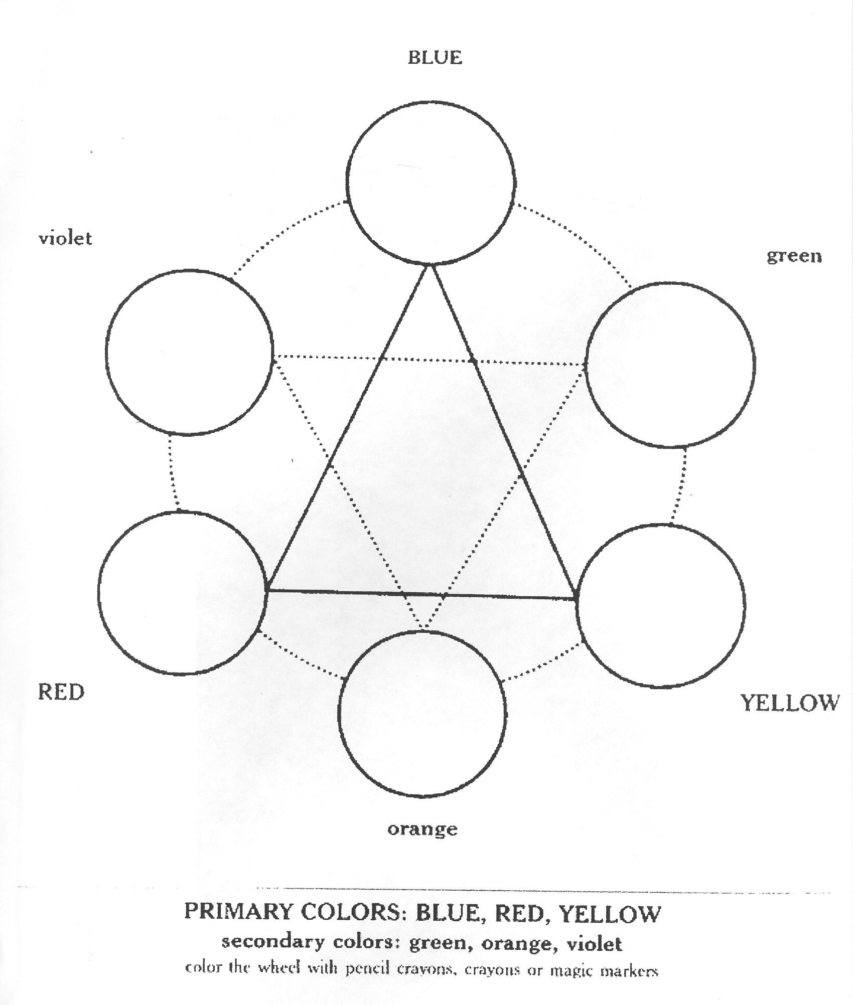 The Best Printable Color Wheel Worksheet
