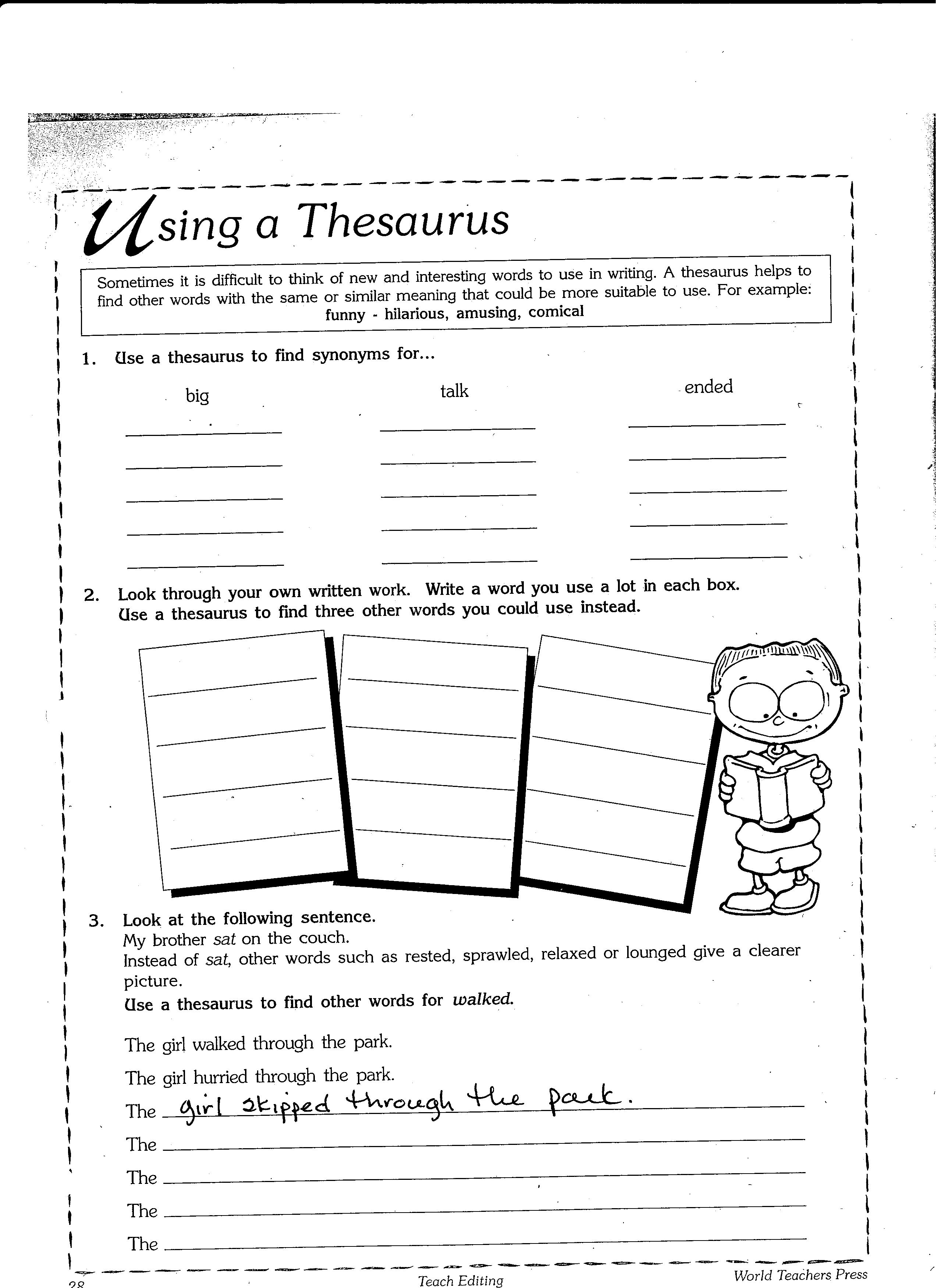 17 Best Images Of Synonyms Worksheets Middle School