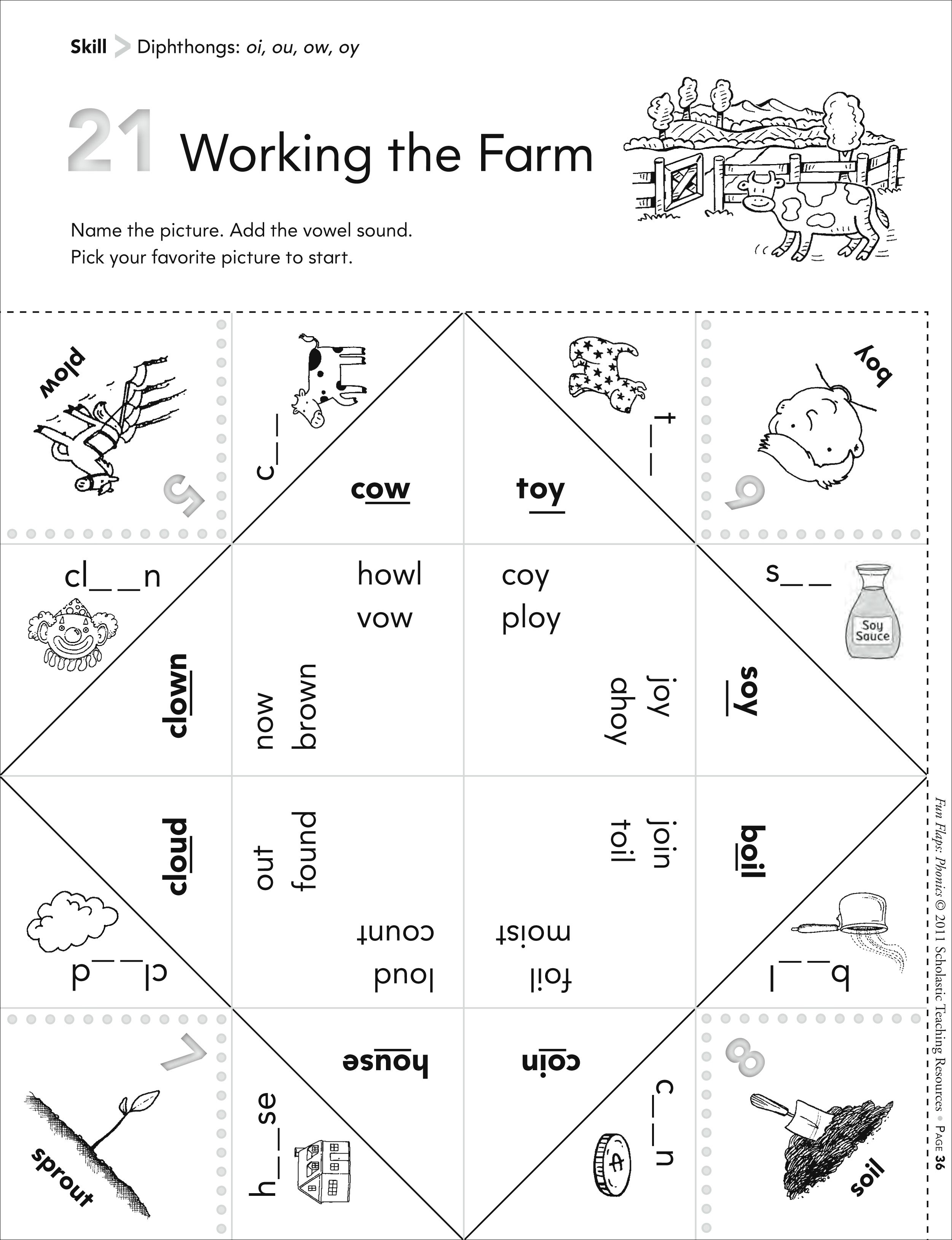 Worksheet For Oi Words