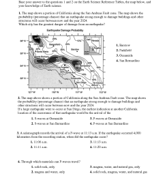 6th Grade Science Worksheet Earthquakes   Printable Worksheets and  Activities for Teachers [ 1650 x 1275 Pixel ]