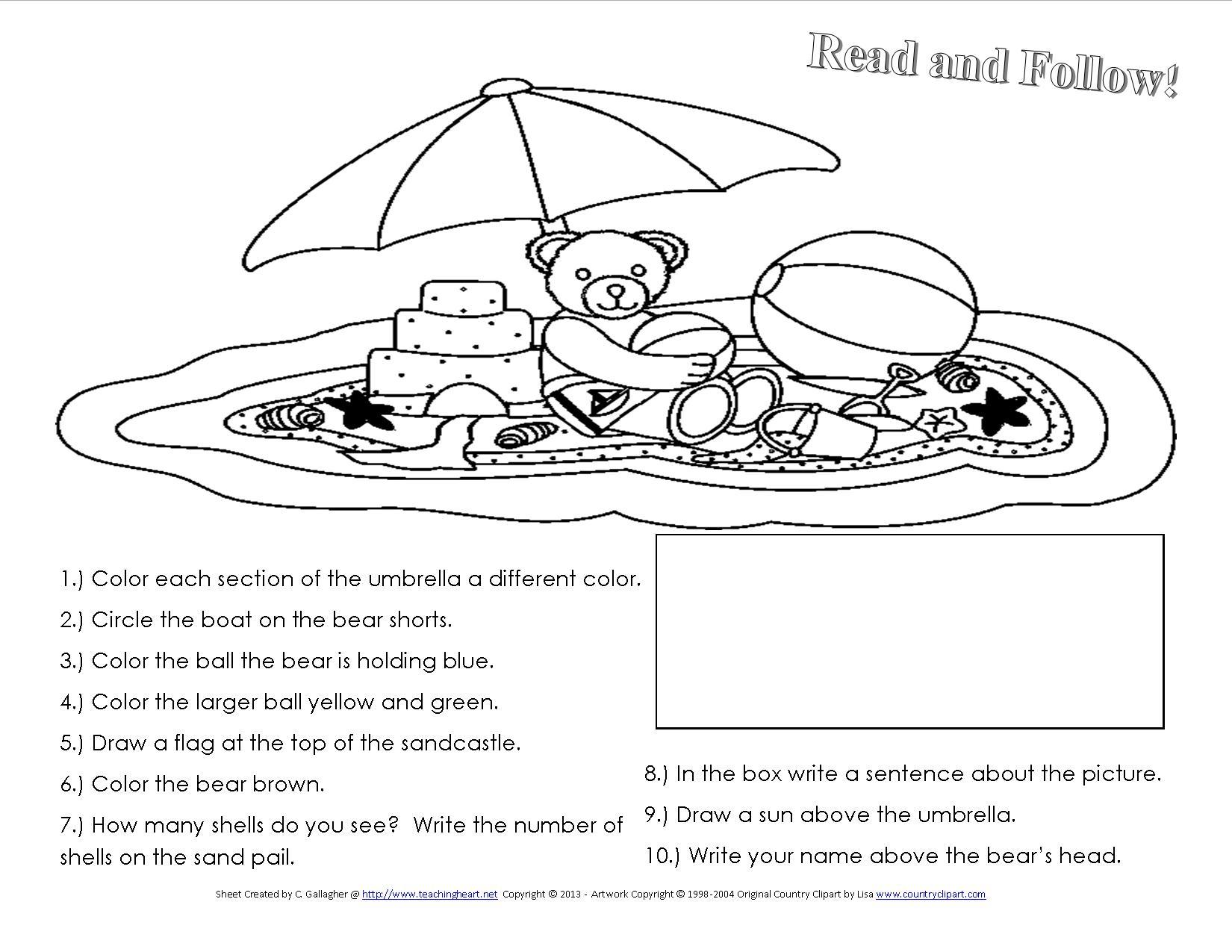 9 Best Images Of Summer Safety Worksheet For Kindergarten