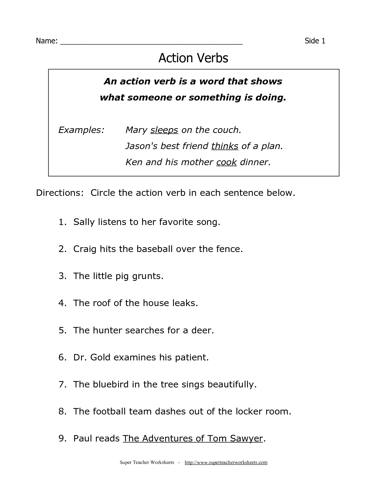 19 Best Images Of 2nd Grade English Worksheets Nouns Verbs