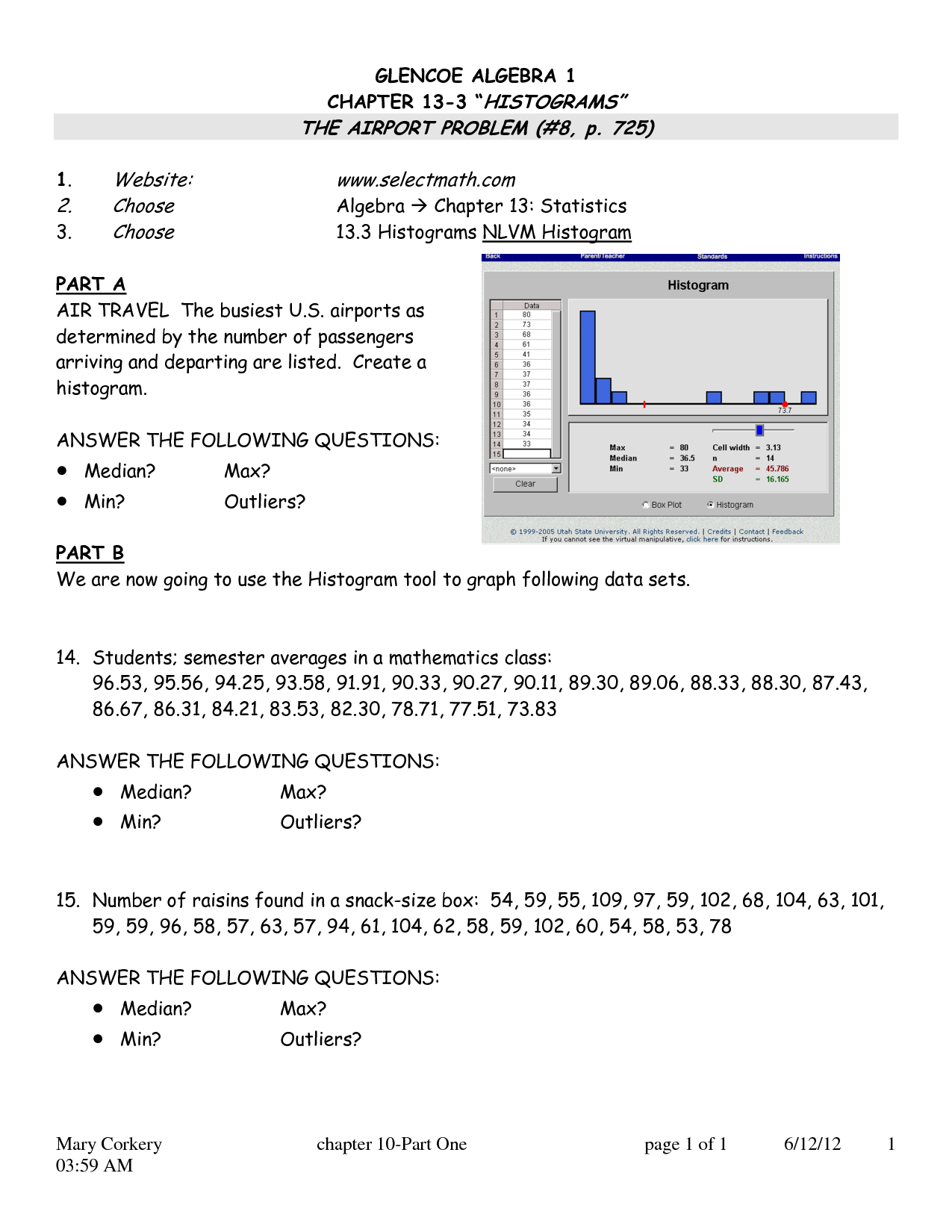 Mcgraw Hill Worksheet Key