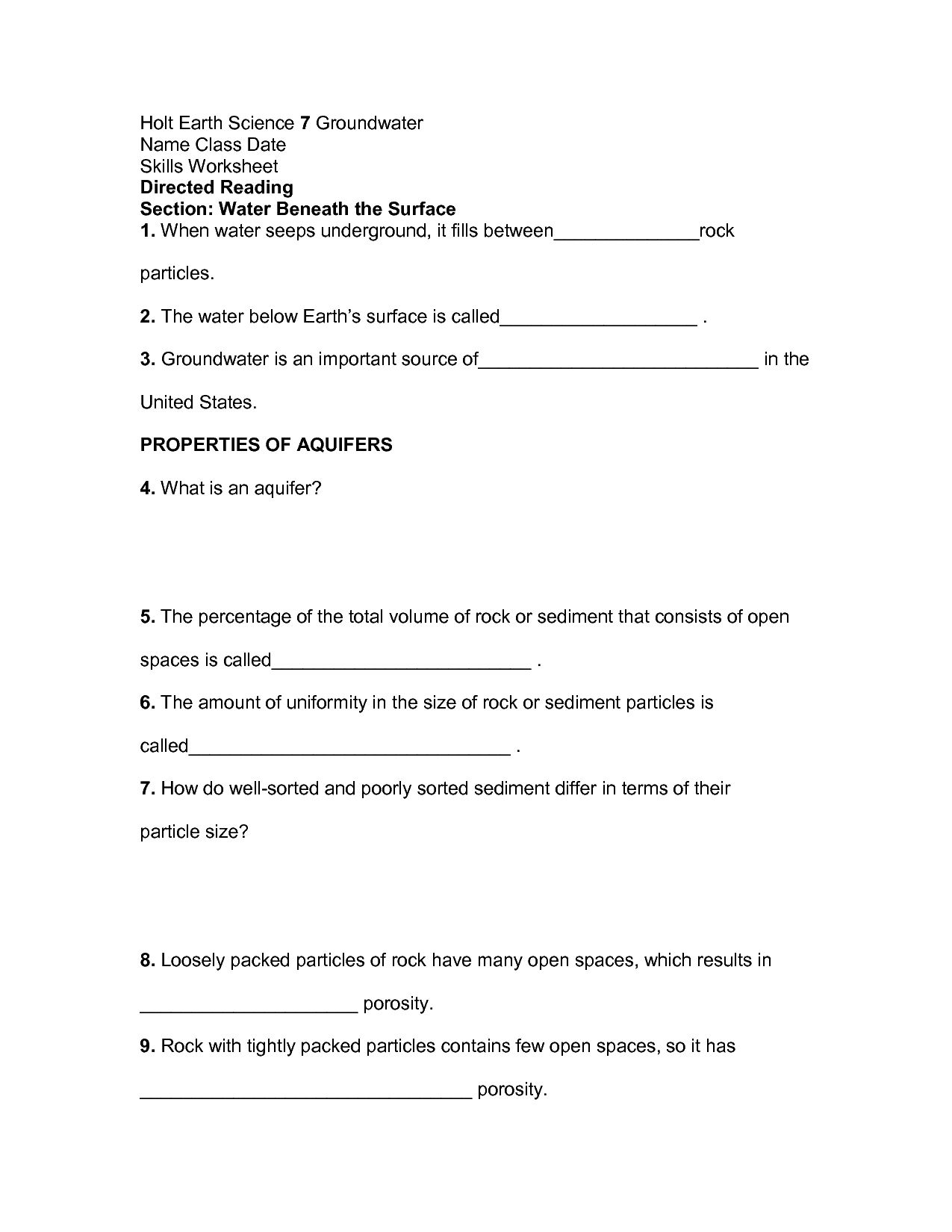 Holt Science And Technology Skills Worksheet Answers