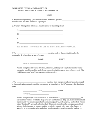 12 Best Images of Family Communication Worksheets - Parent ...
