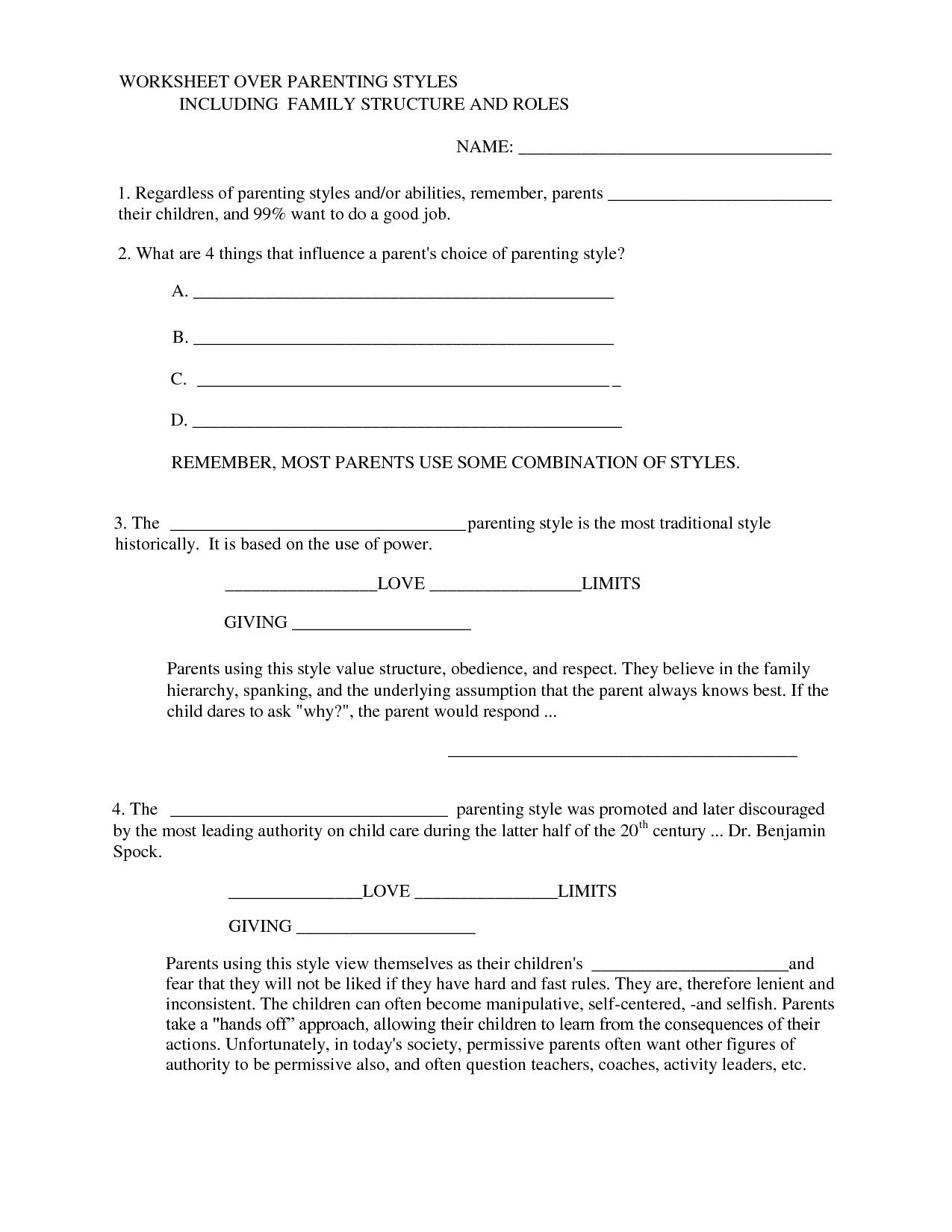 16 Best Images Of Teen And Parent Communication Worksheets