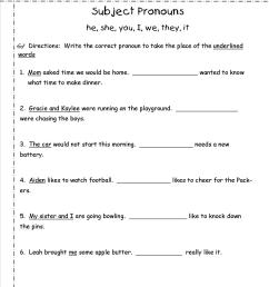 Pronouns Worksheets For Grade 1   Printable Worksheets and Activities for  Teachers [ 1650 x 1275 Pixel ]