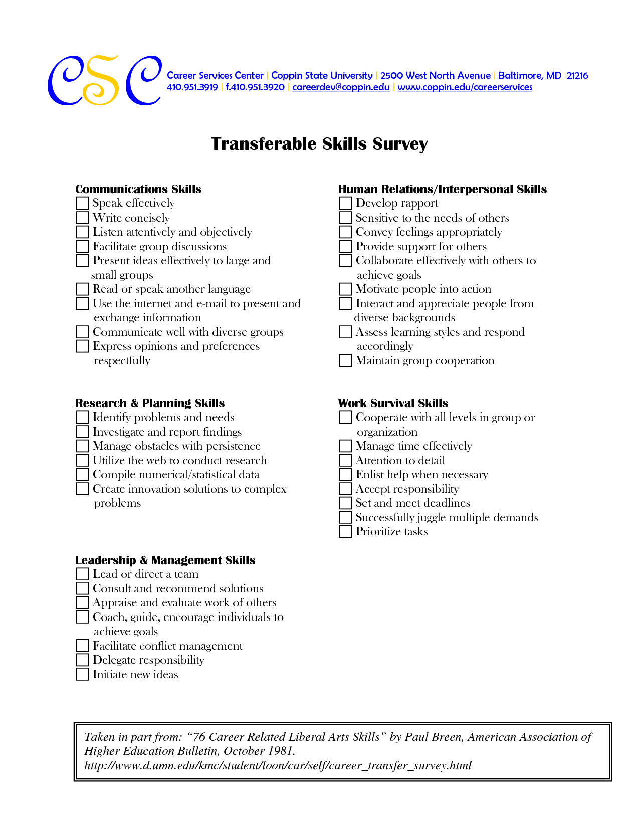 Worksheets Transferable Skills Worksheet Cheatslist Free Worksheets For Kids Amp Printable