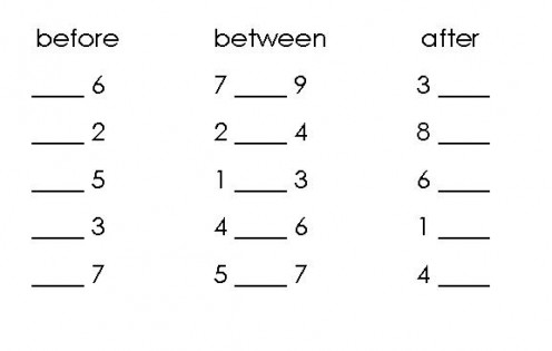 15 Best Images of Before And After Numbers Worksheets
