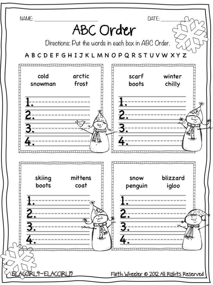 13 Best Images of Alphabetical Order Worksheets 2nd Grade