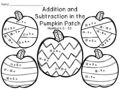 11 Best Images of Halloween Math Addition And Subtraction
