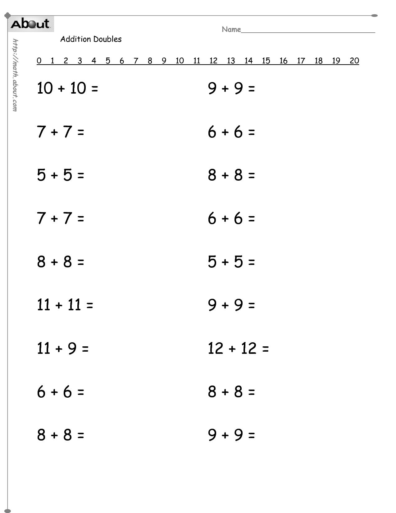 10 Best Images of 1st Grade Math Worksheets Adding