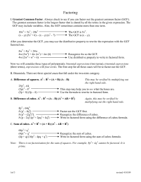 18 Best Images of Factoring Using GCF Worksheet.pdf