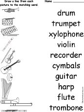 11 Best Images of Musical Instruments Worksheets Printable
