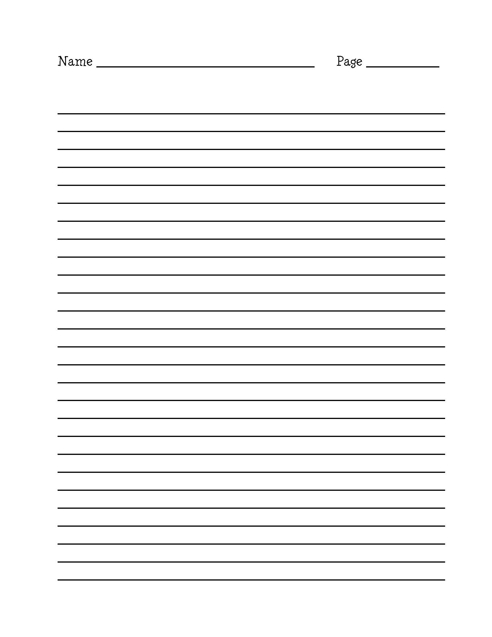 15 Best Images Of Long Lined Paper Worksheets 4th Grade Essay Writing