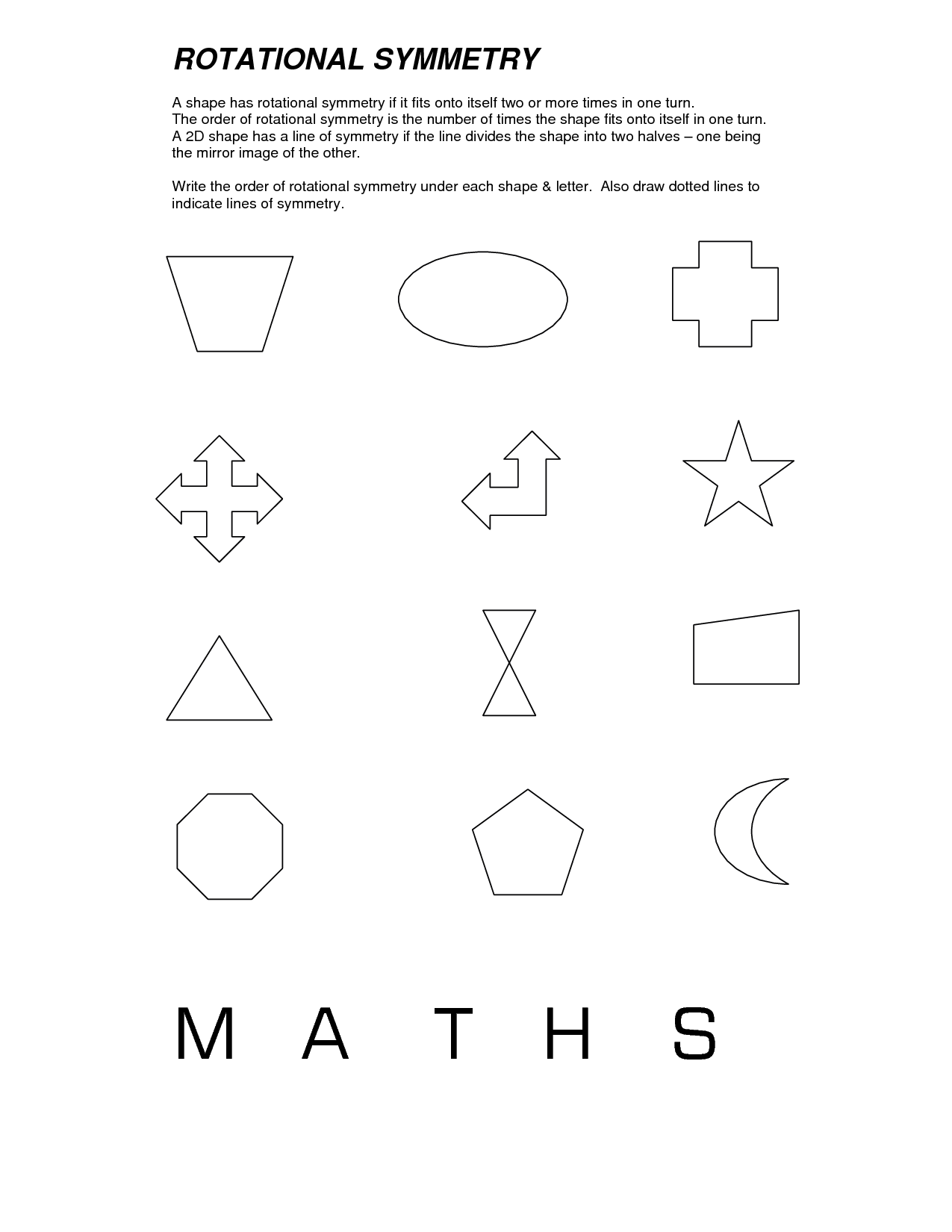 Symmetry First Grade Math Worksheet