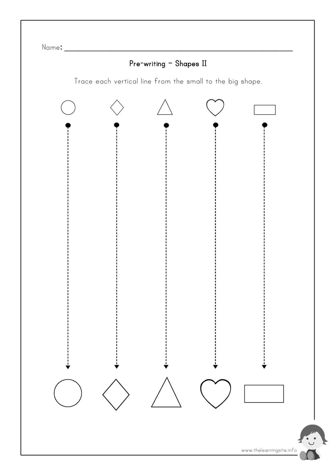 Printable Worksheets Pre Writing Strokes