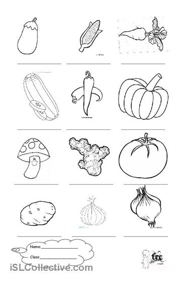 13 Best Images of Vegetable Worksheets For Preschoolers