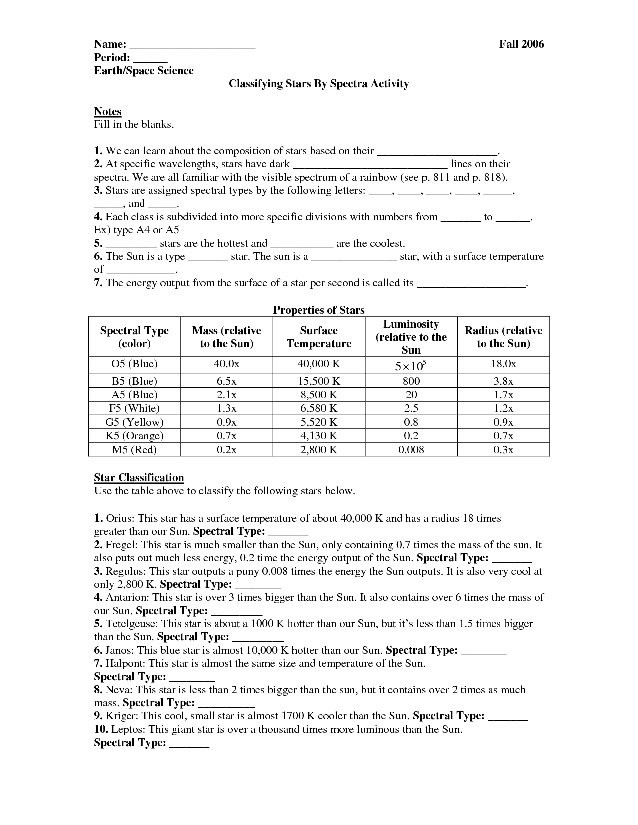 35 The Universe Life And Of A Star Worksheet Answers