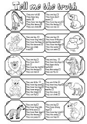 12 Best Images of Worksheets Animal Descriptions