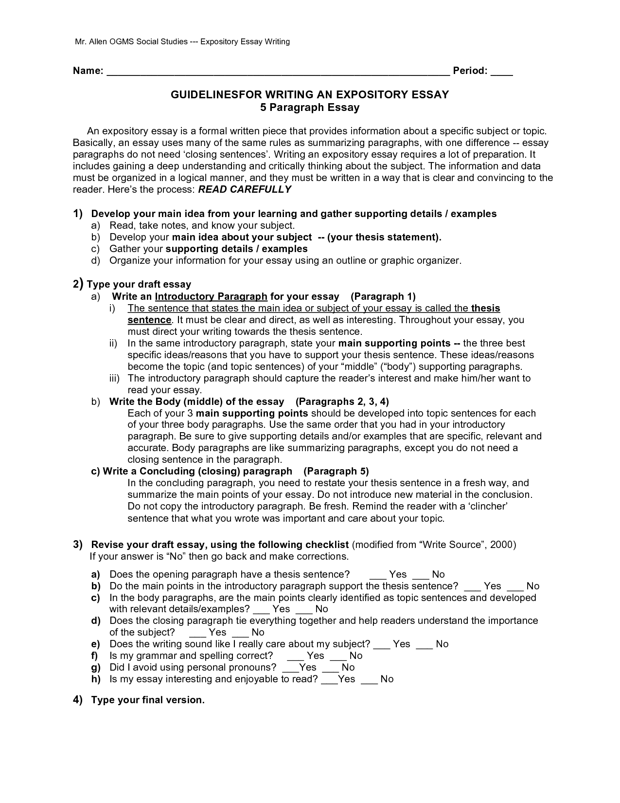 18 Best Images Of Formal Essay Writing Worksheet