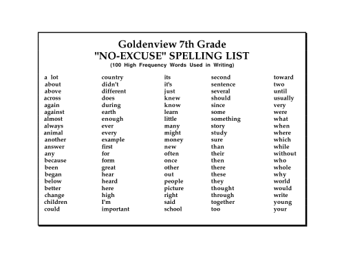 small resolution of 7th Grade Spelling Words Printable Worksheet   Printable Worksheets and  Activities for Teachers