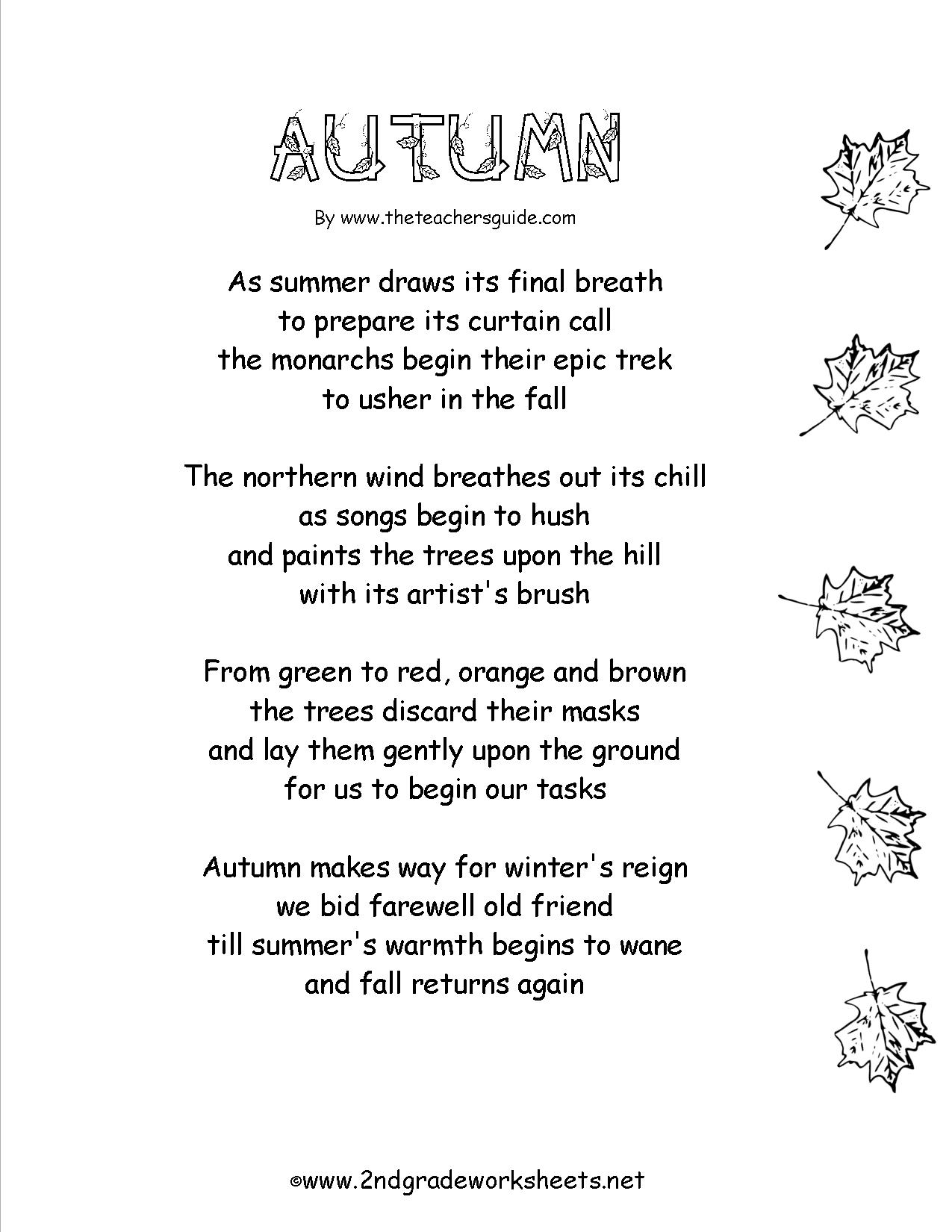 13 Best Images Of Autumn Worksheets Third Grade