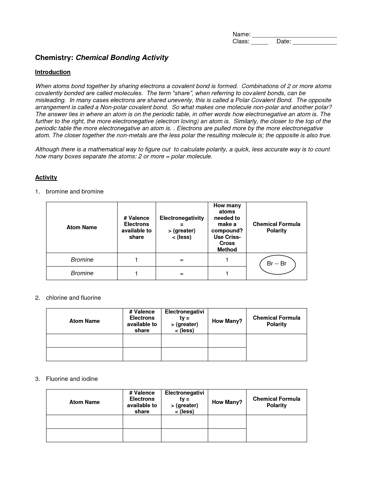 11 Best Images Of Bonding Basics Ionic Bonds Worksheet Answers