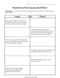17 Best Images of Causes Of The Civil War Worksheet ...