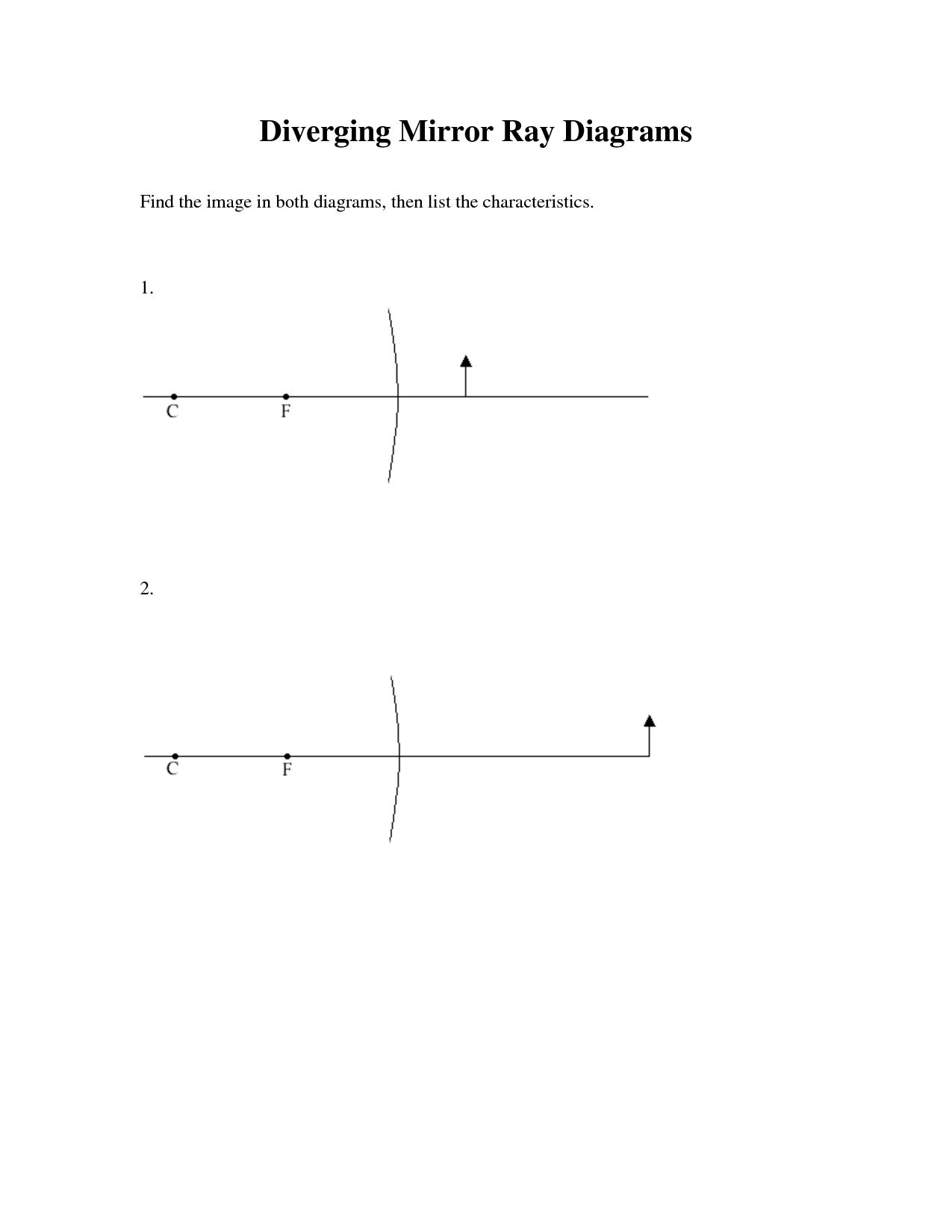 11 Best Images Of Diverging Lens Ray Diagram Worksheet