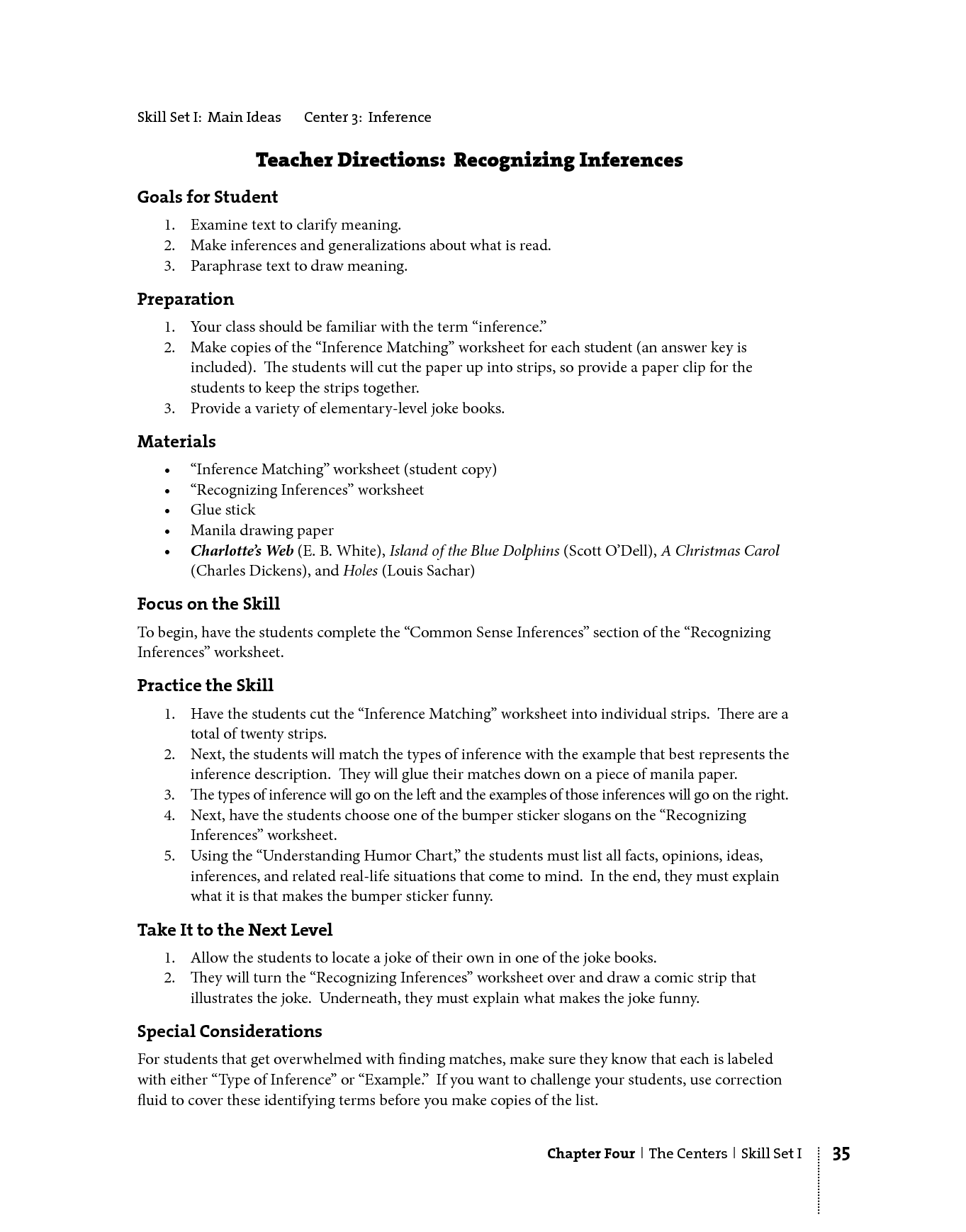 Generic Comprehension Worksheet Middle School Reading